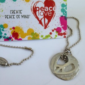 Introducing the PeaceLove pendant necklace